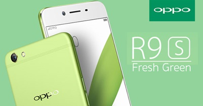 OPPO R9s สีเขียว Fresh Green Limited Edition